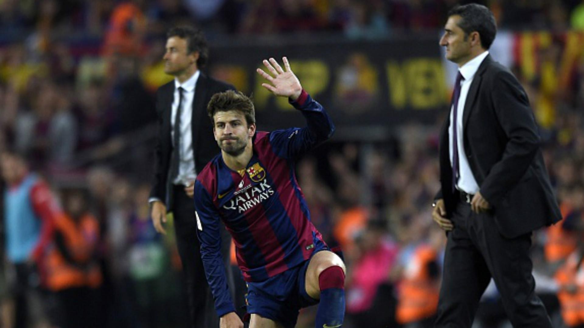 Pique Luis Enrique Valverde Athletic Barcelona Copa del Rey