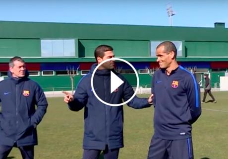 VÍDEO | Master class de faltas con Rivaldo