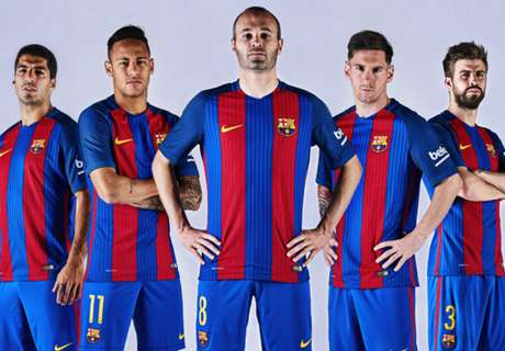 Las nuevas camisetas de los grandes