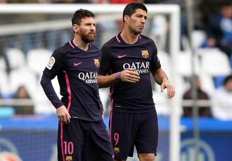 Suárez defiende a Messi tras la sanción