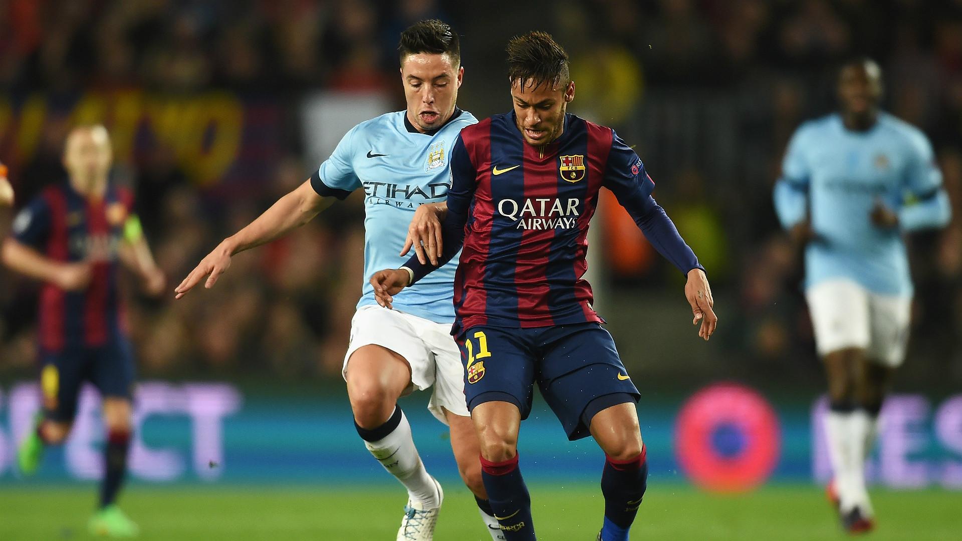 Samir Nasri Neymar Barcelona Manchester City UEFA Champions League 18032015