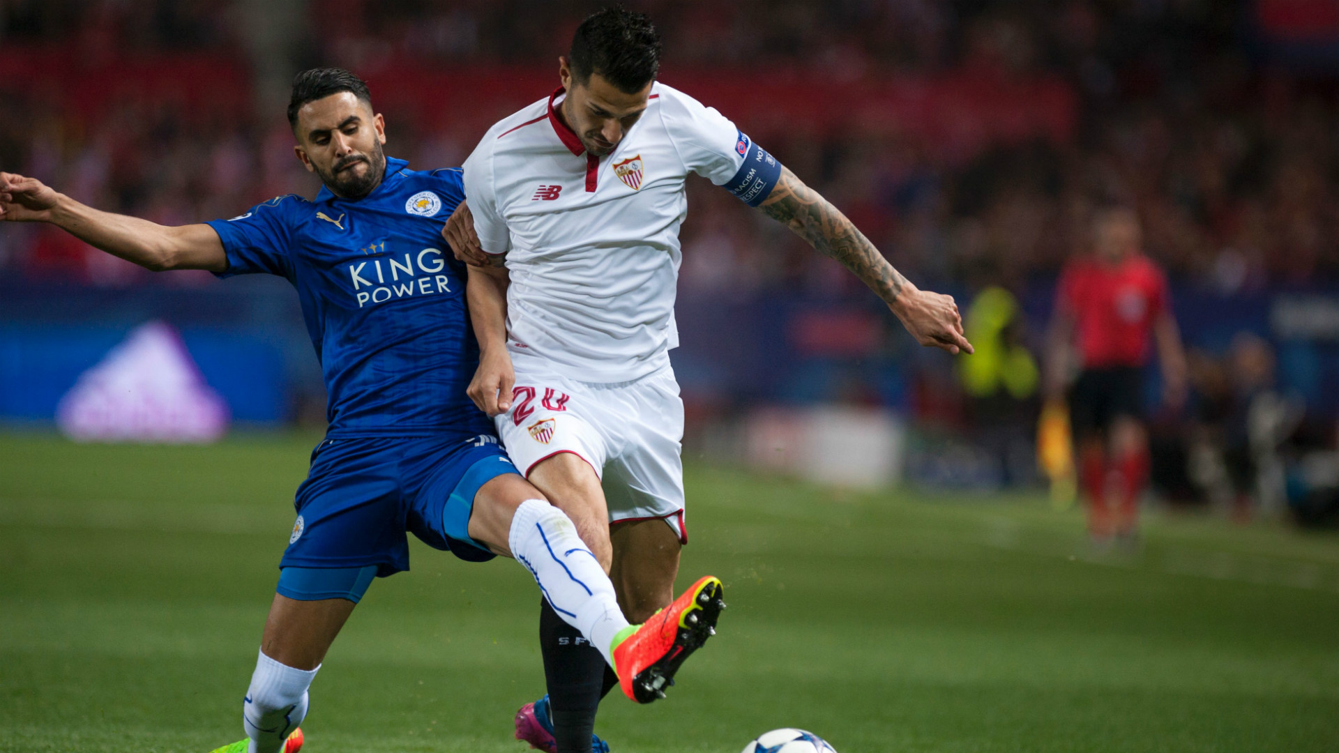 Riyad Mahrez Vitolo Sevilla Leicester Champions League