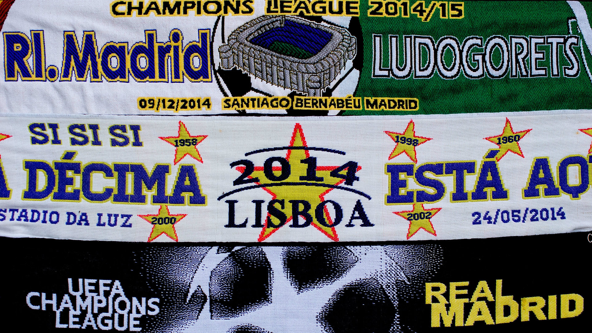 Scarves real madrid ludogorets uefa champions league 12092014 goal