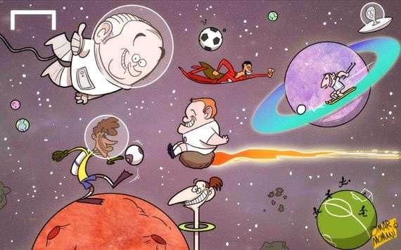 Jugando en el espacio, por Omar Momani