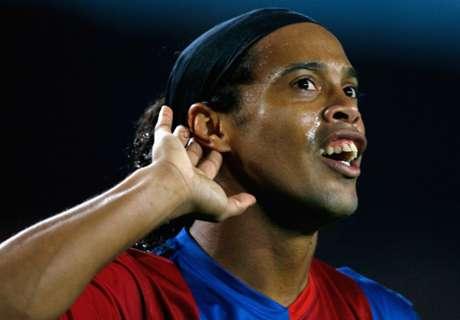 Ronaldinho, poco ocurrente