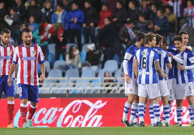 Real Sociedad 2-1 Atletico Madrid: Champions stunned by Agirretxe strike