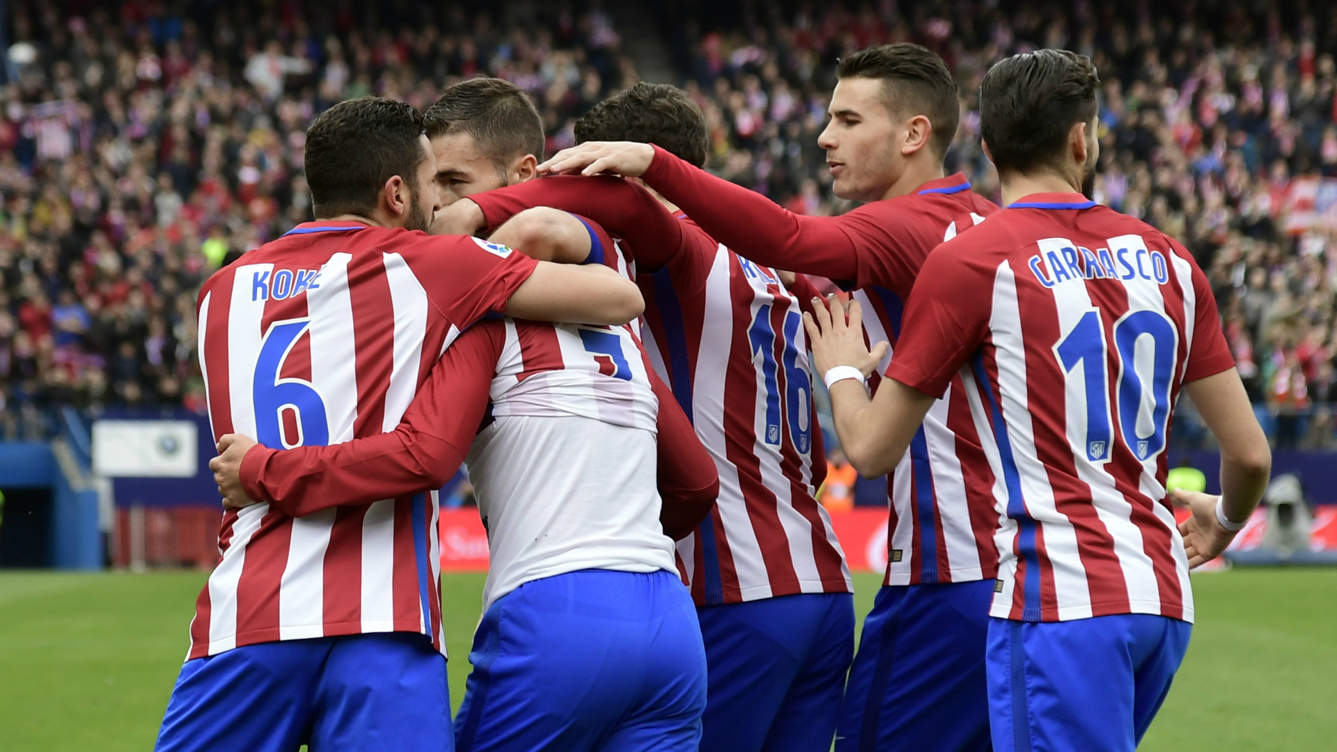 Orellana no pudo hacer nada ante el Atlético de Madrid