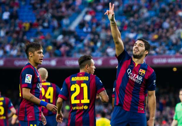 Barcelona 6-0 Getafe: Messi, Neymar and Suarez continue title march