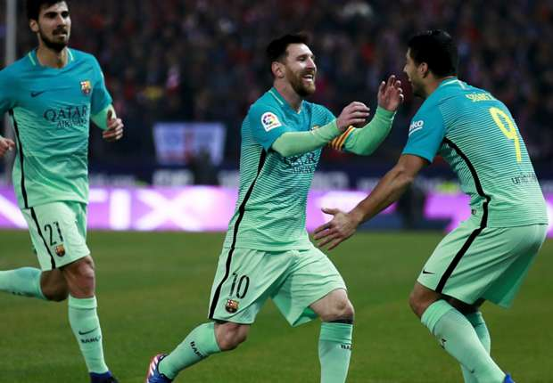 Atletico Madrid 1-2 Barcelona: Messi & Suarez put Catalans in Copa control