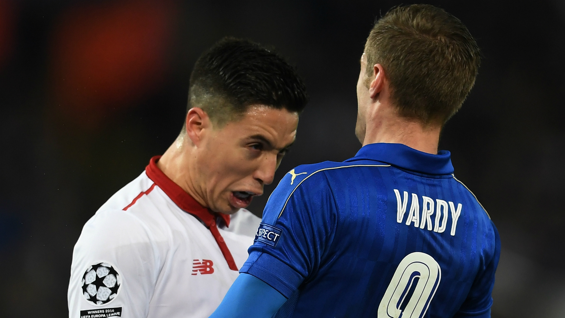 Jamie Vardy Samir Nasri Leicester Sevilla Champions League