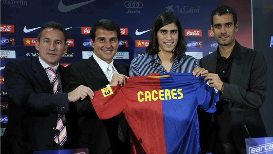 Martin Caceres ex Barcelona player