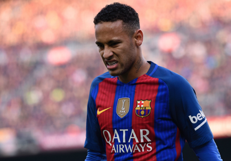 Neymar, lesionado y sancionado