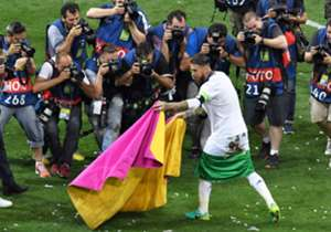 UCL FINAL REAL MADRID CELEBRATION SERGIO RAMOS 28052016