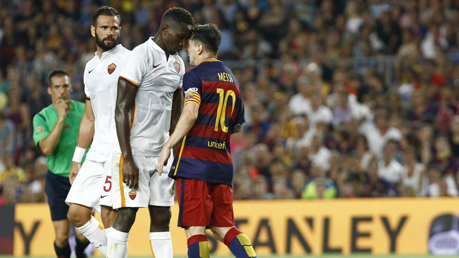 Messi Mbiwa Barcelona Roma Gamper 060815