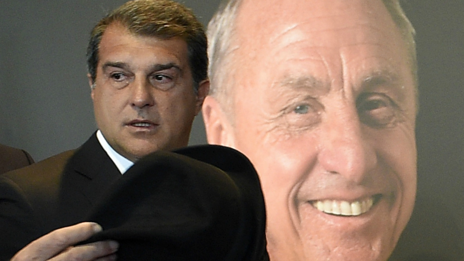 Joan Laporta in the Goodbye to Johan Cruyff at Camp Nou