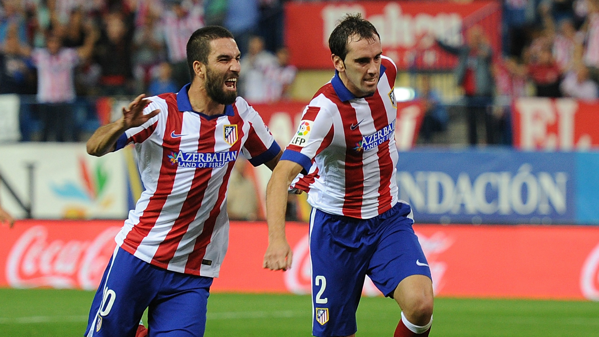 Arda Turan Diego Godin Atletico Madrid Goal