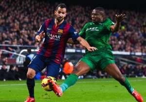 Montoya con la maglia del Barça