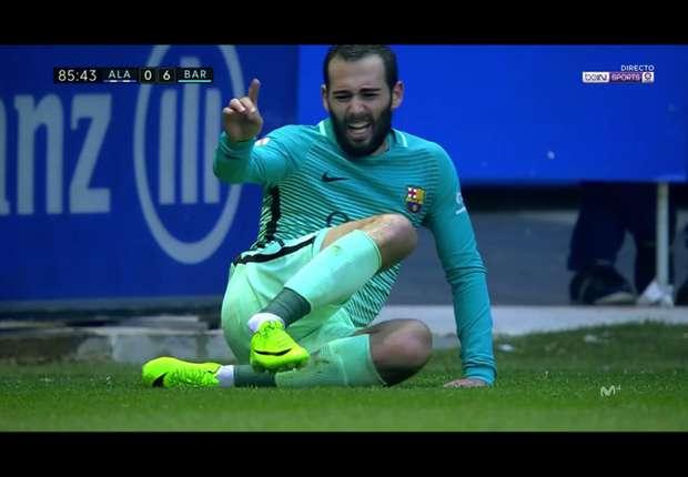 VIDEO - La vilaine blessure d'Aleix Vidal (FC Barcelone), forfait pour le PSG