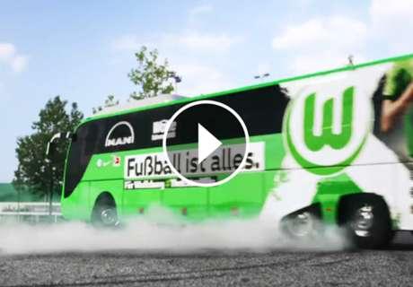 VÍDEO: El movido viaje del Wolfsburgo en su autobús