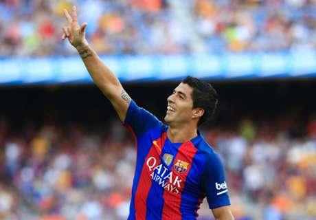 Suarez & Messi shine in big Barca win