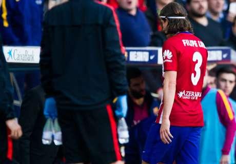 Fallaccio su Messi, Filipe Luis out 3 turni