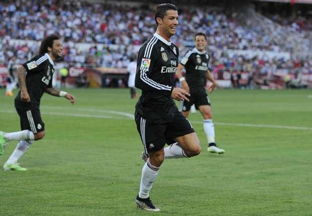 Ronaldo (v.) erzielte gegen Sevilla seine Ligatore 40 bis 41