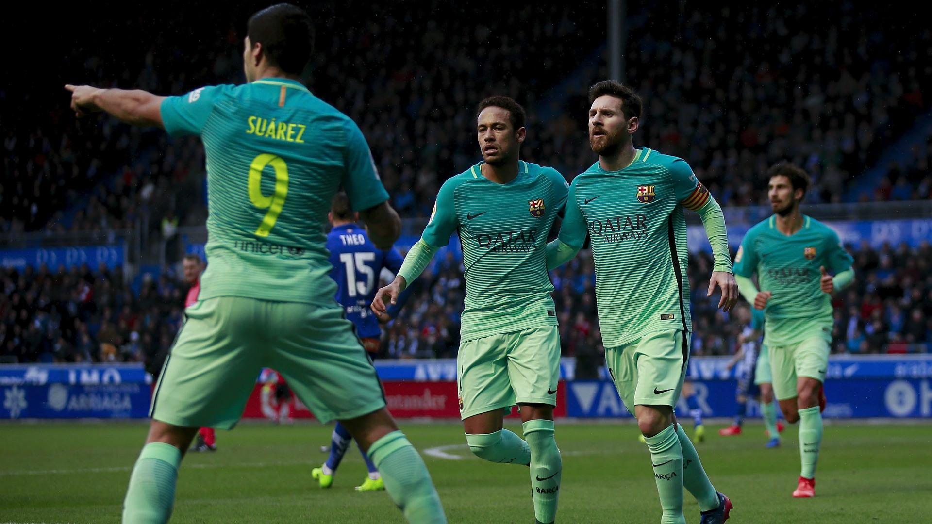Luis Suarez Neymar Messi Alaves Barcelona LaLiga 11020217