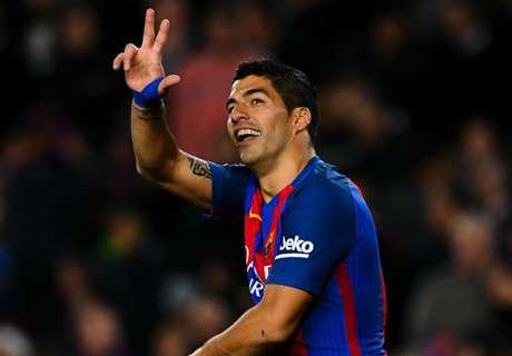 Los goles de Suárez en la 2016/17