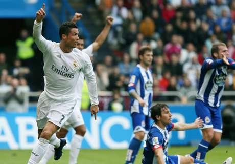Deportivo-Real 0-2: CR7, bis inutile