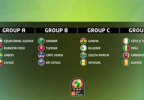 Emparejamientos Copa África 2015