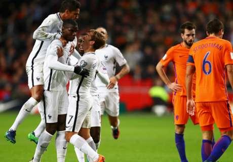 Eliminatorias: Holanda 0-1 Francia