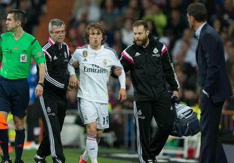 Todas las lesiones de Modric desde 2008