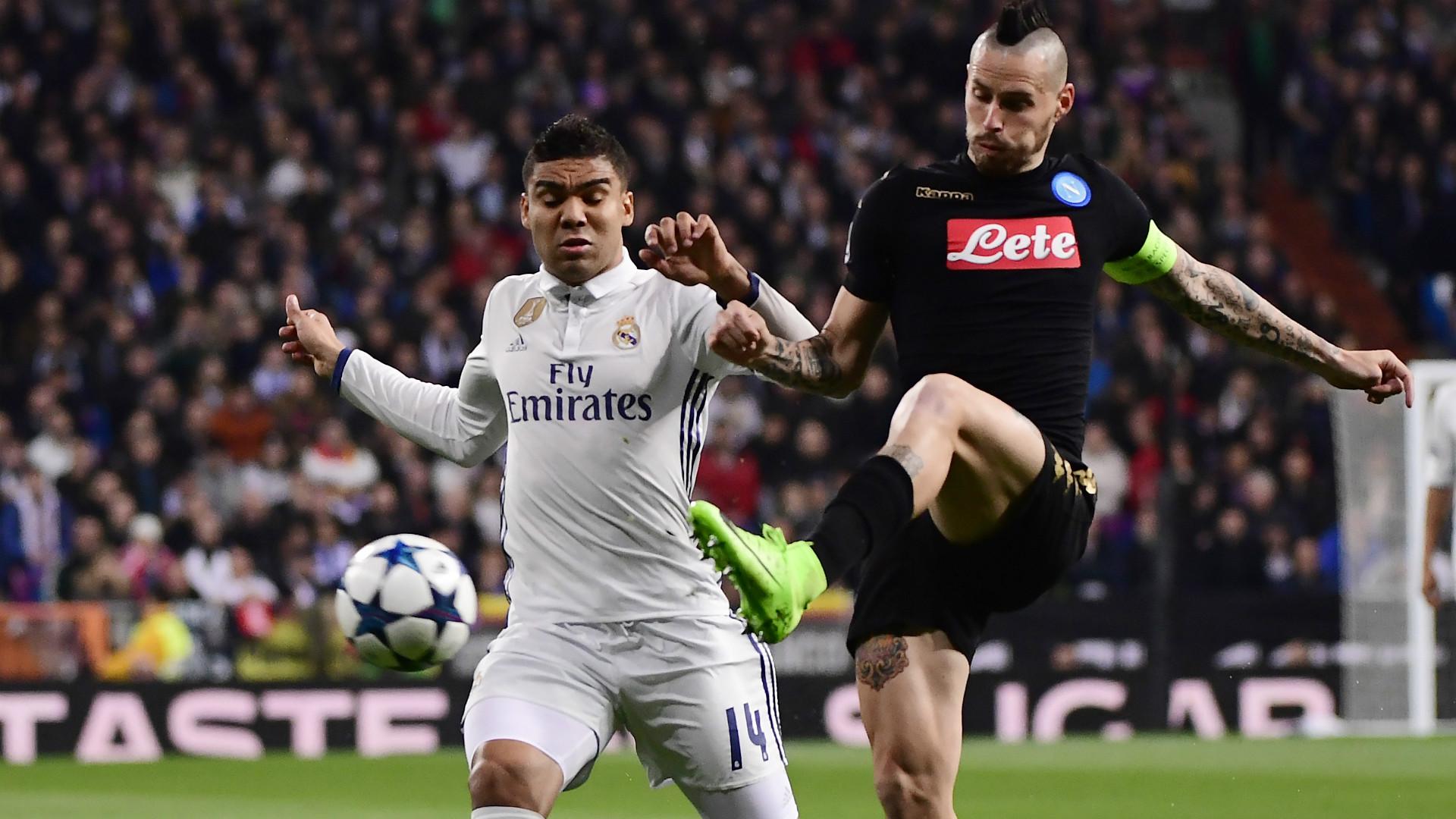 Marek Hamsik Casemiro Real Madrid Napoli Champions League