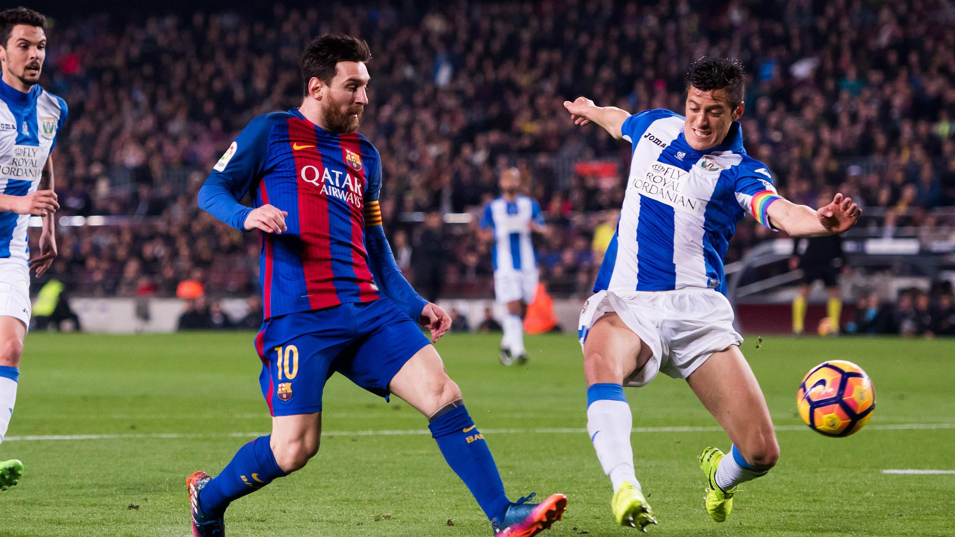 Lionel Messi Mantovani Barcelona Leganes LaLiga 19022017