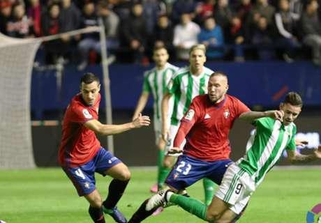 LaLiga: Osasuna 1-2 Betis