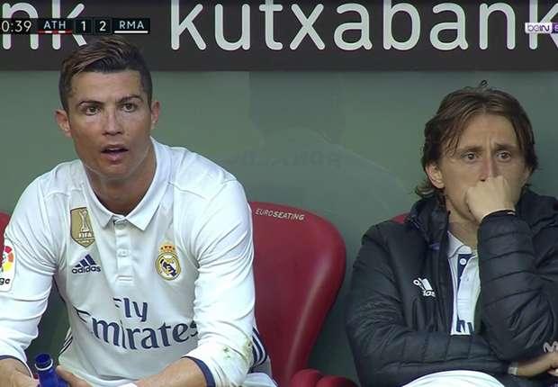 Ronaldo marah ketika diganti.