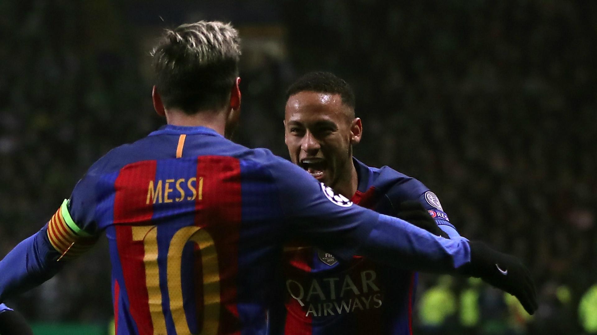 Lionel Messi Neymar Celtic Barcelona Champions League