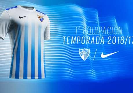 El Málaga presenta su primera equipación