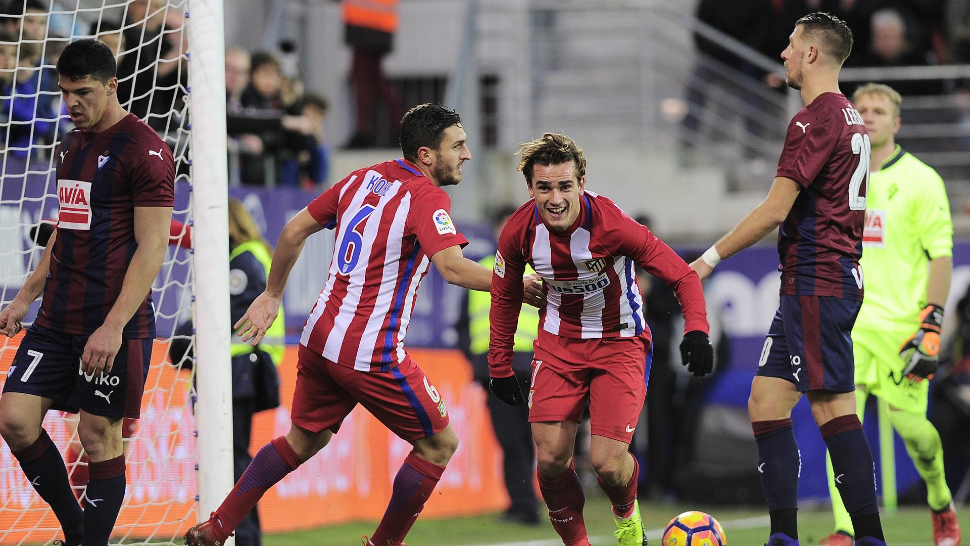 Koke Antoine Griezmann Eibar Atletico Madrid LaLiga 07012016