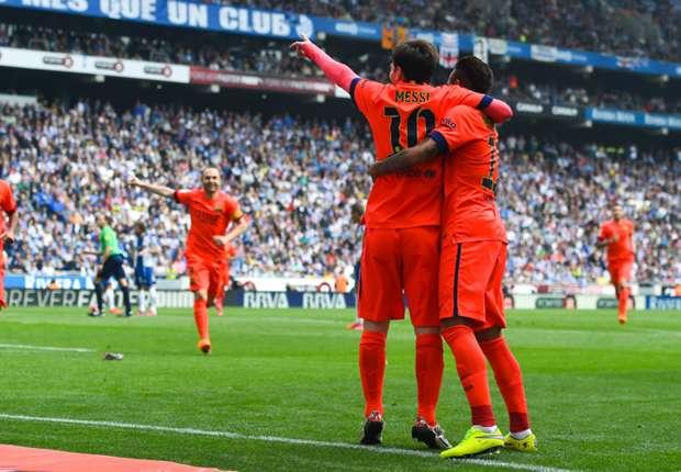 Espanyol-Barça 0-2, le Barça maintient la cadence