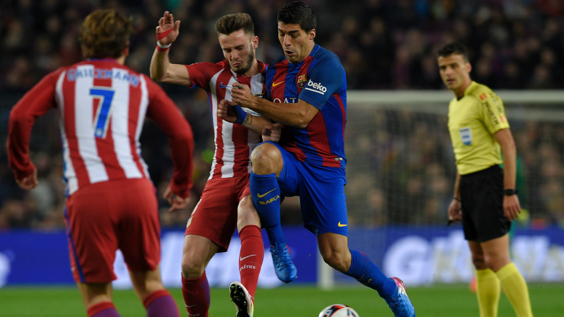 Antoine Griezmann Luis Suarez Saul Barcelona Atletico Madrid Copa del Rey