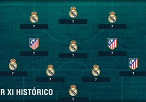 À l'occasion de la finale de la Ligue des champions, Goal a concocté son équipe-type réunissant les meilleurs joueurs du Real Madrid et l'Atletico Madrid de l'histoire.