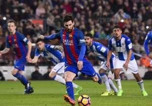Tras el penalti que Messi marcó al Leganés, analizamos los números de los conjuntos que más se han beneficiado de la pena máxima