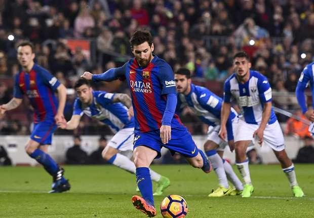 مفارقة   مباراة ليجانيس تشهد واقعة هي الأولى في تاريخ برشلونة -