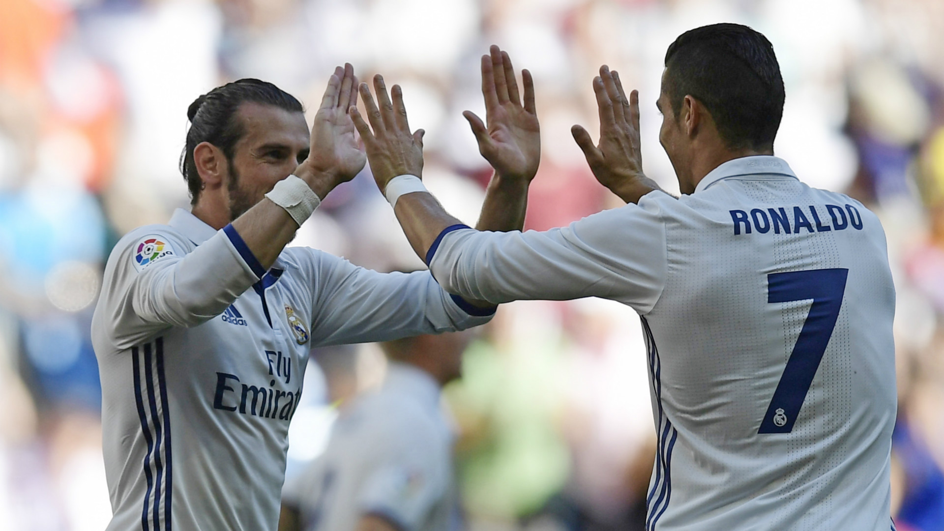 Gareth Bale Cristiano Ronaldo Real Madrid Eibar 02102016