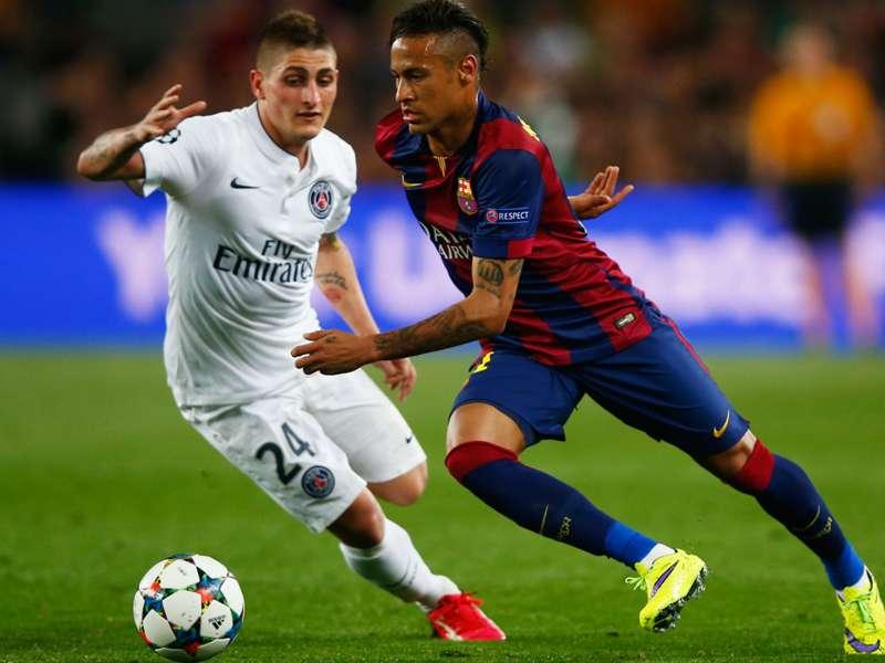 Barcelone et le Paris Saint-Germain, maitres de la passe en Europe