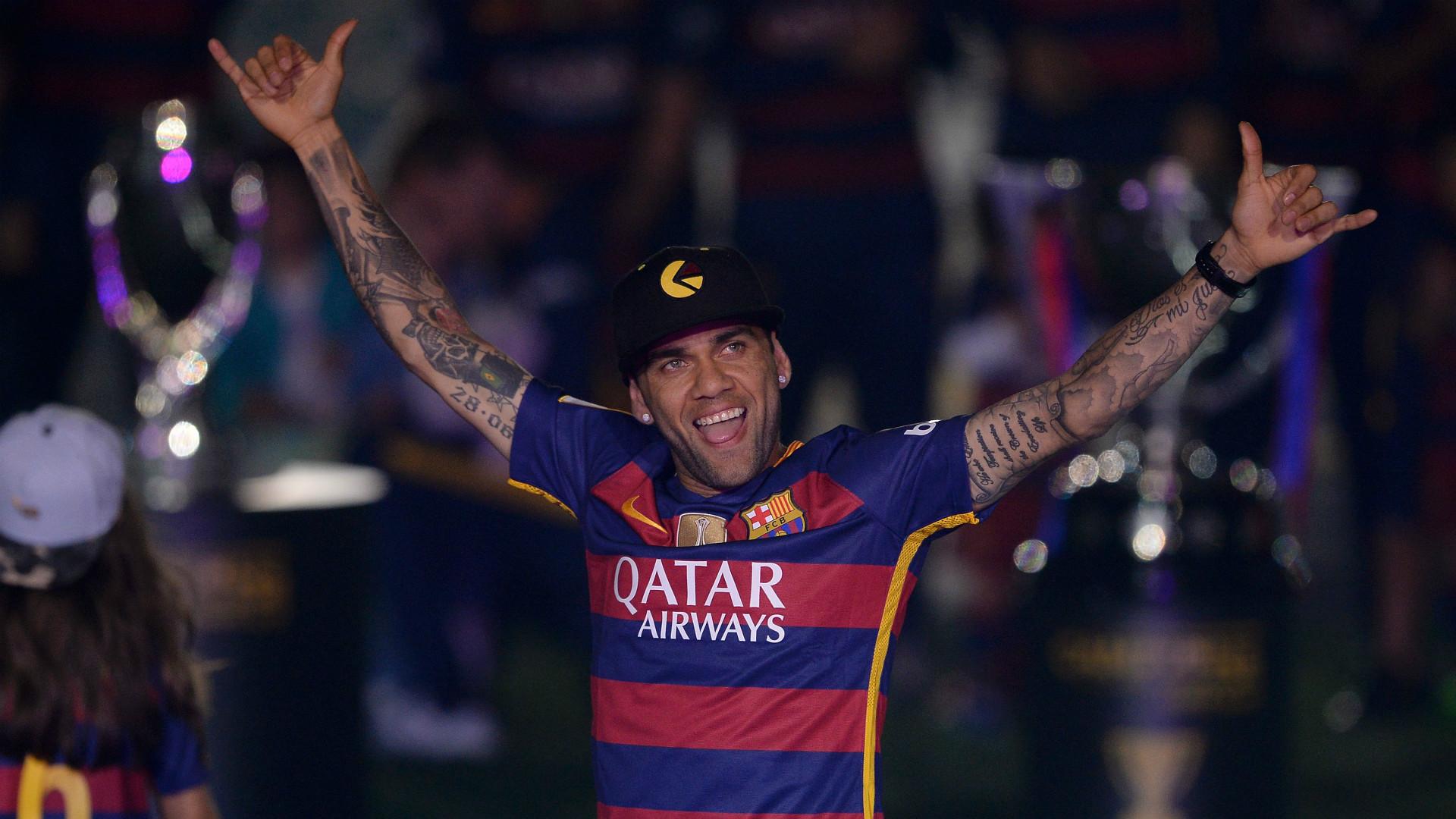 Dani Alves Barcelona celebrations