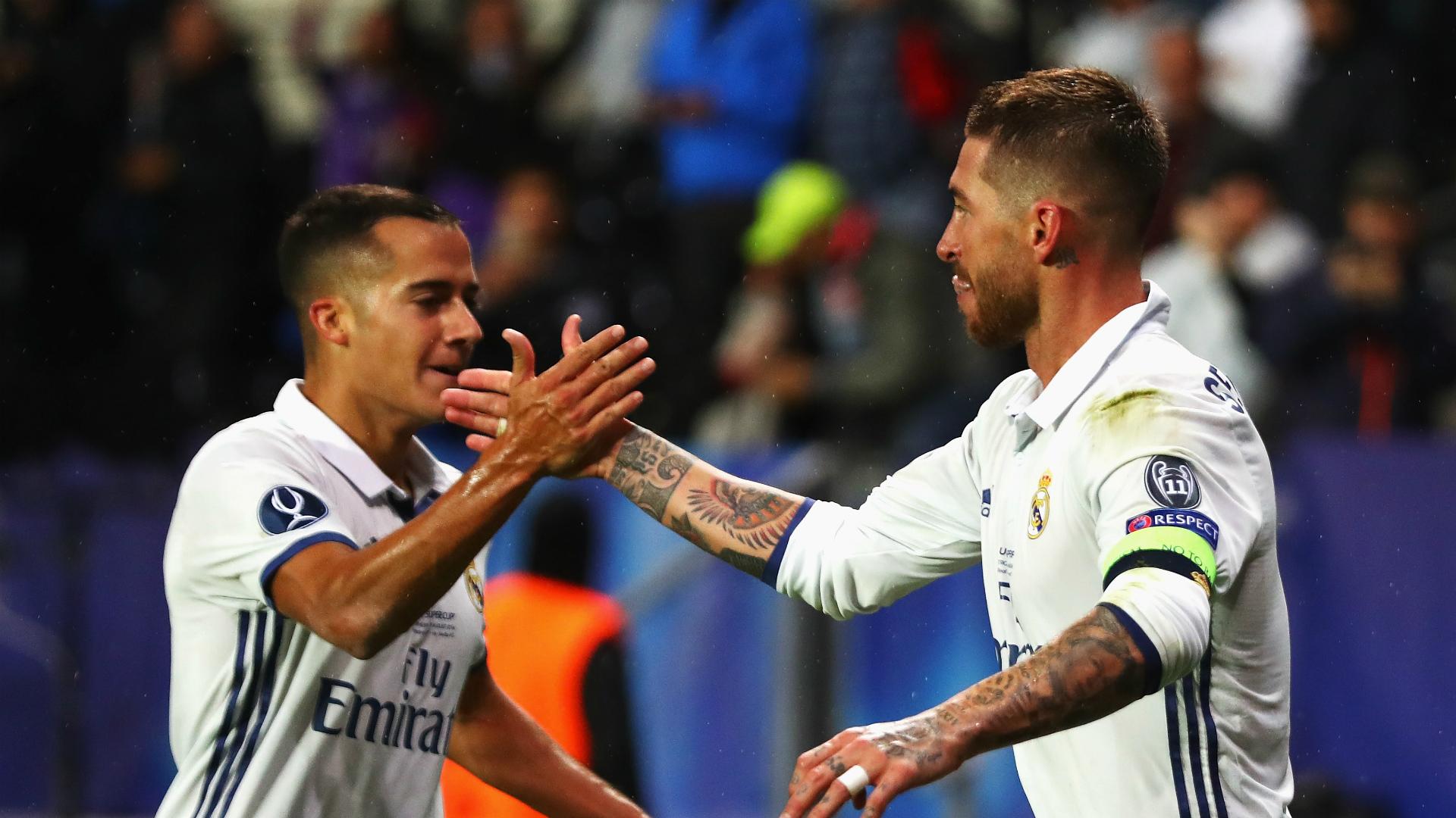 Sergio Ramos Lucas Vazquez Real Madrid Sevilla UEFA Super Cup 08092016