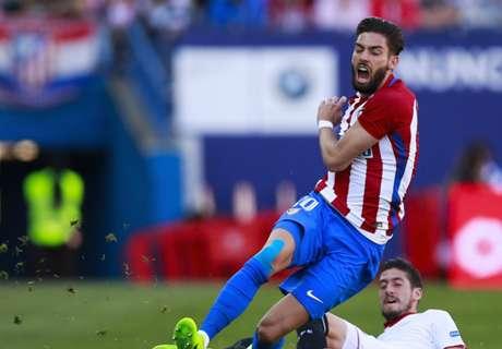 Carrasco, lesionado en el Atlético - Villarreal