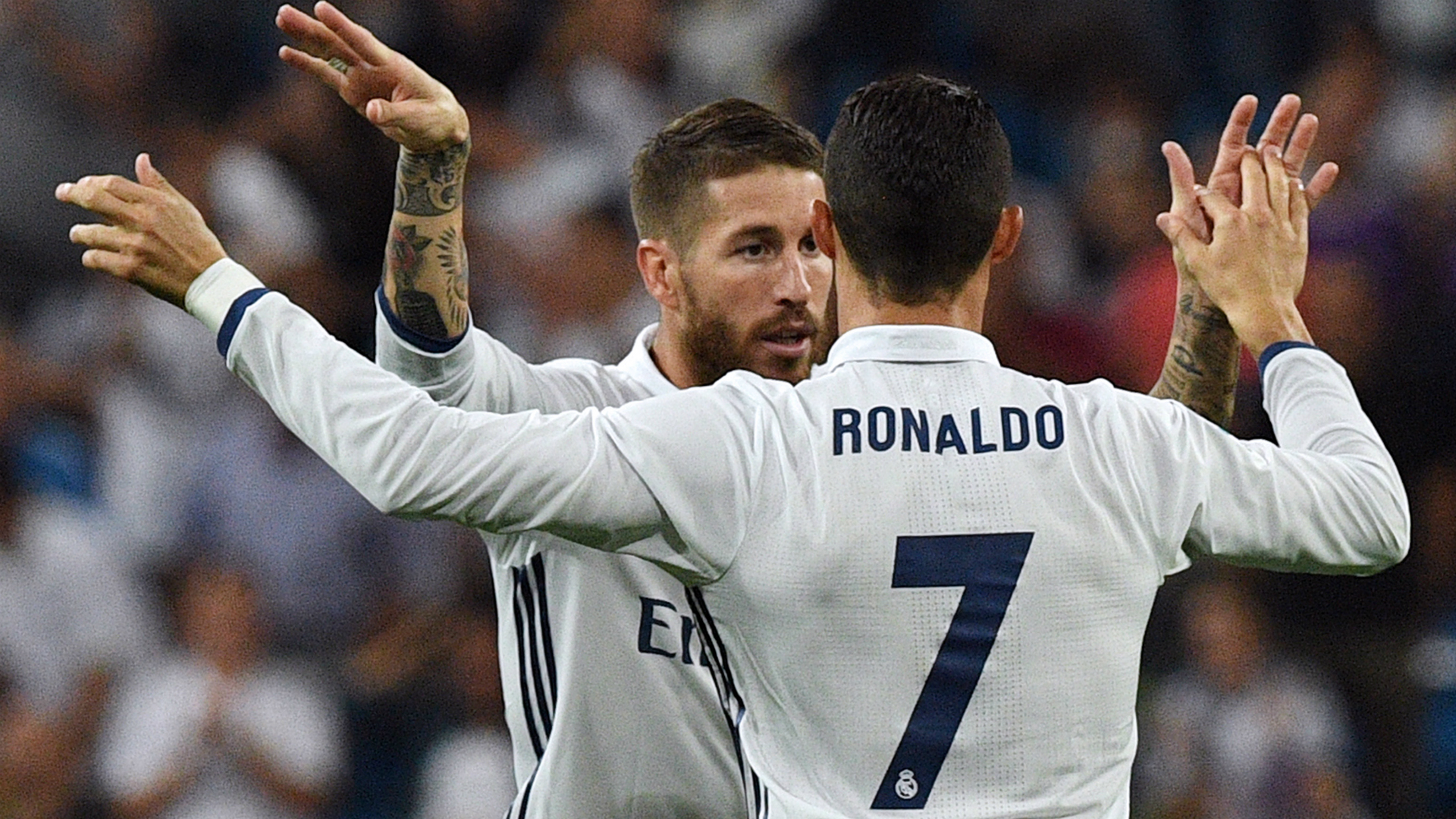 Sergio Ramos Cristiano Ronaldo Real Madrid Villarreal